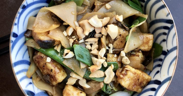 Thai Drunken Noodles with Tofu (Pad Kee Mao)