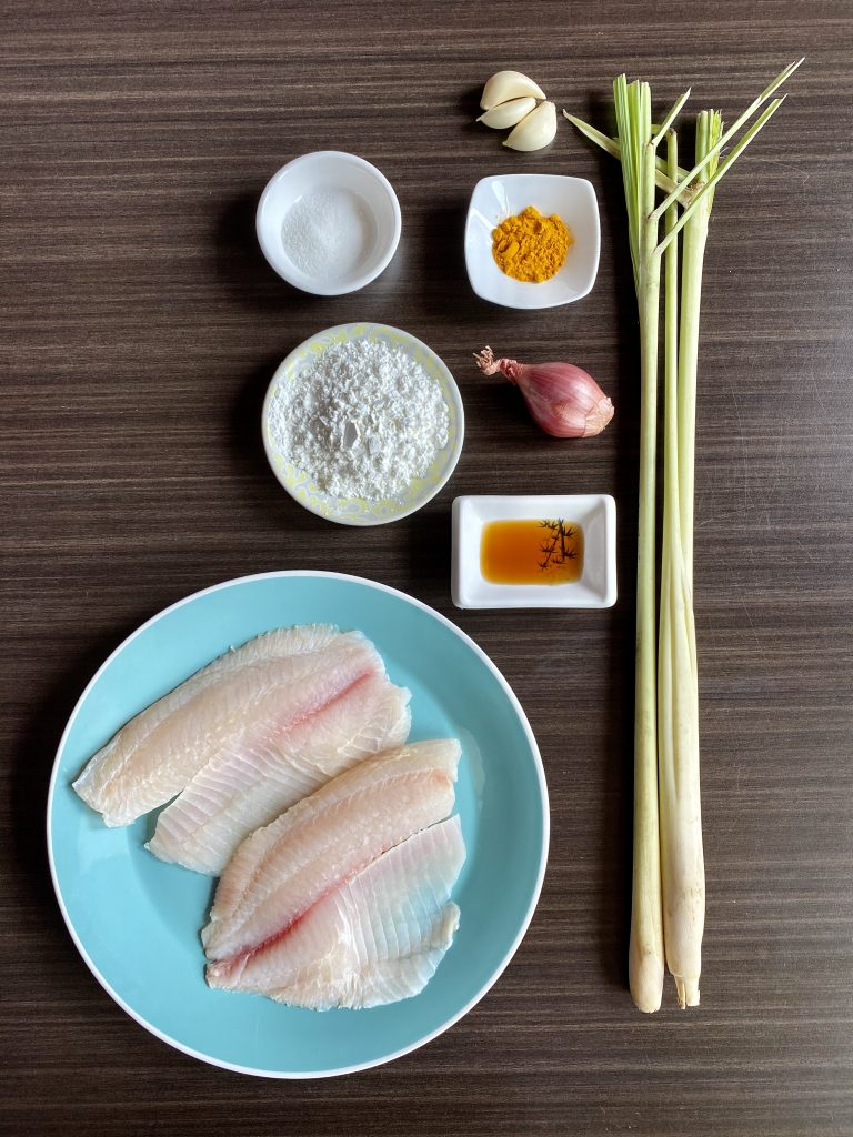 ingredients used for making Vietnamese fried fish