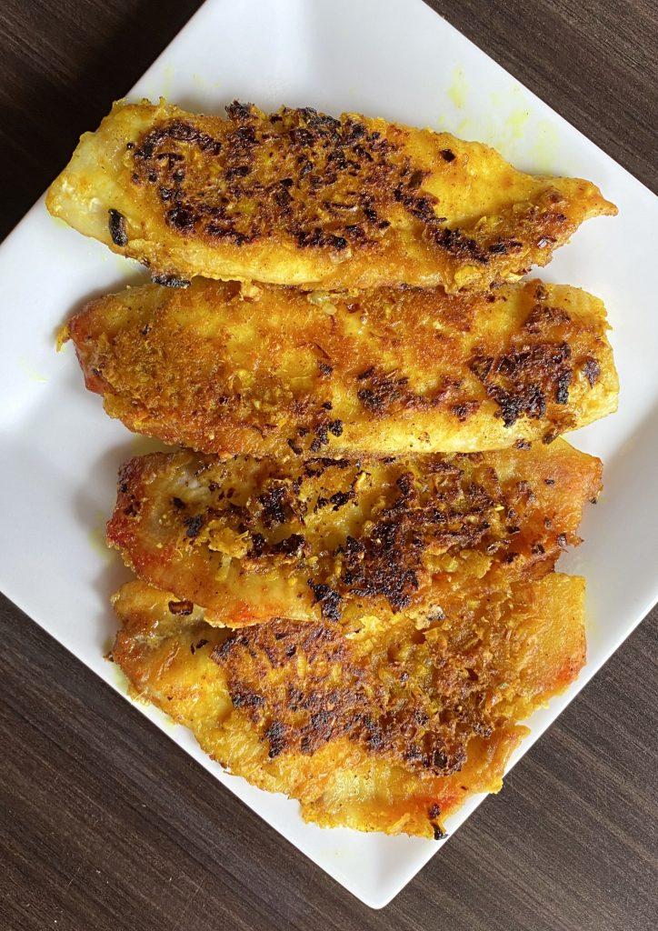 Vietnamese fried fish with lemongrass