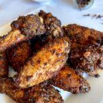jerk chicken wings on a plate
