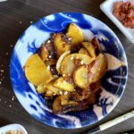massaman curry fried potatoes in a bowl