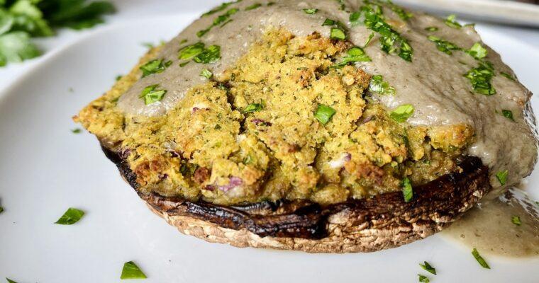 Vegan Stuffed Portobello Mushrooms