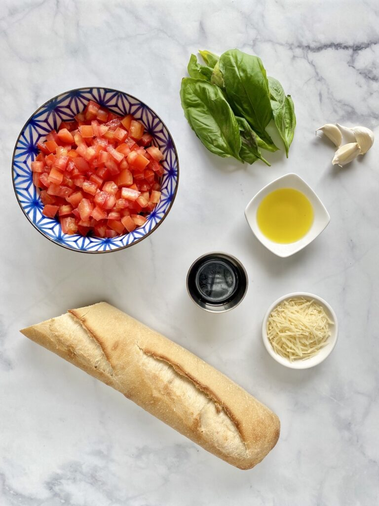 ingredients used for bruschetta