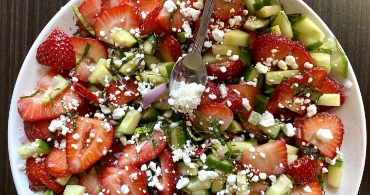 Strawberry Fruit Salad with Basil & Mint
